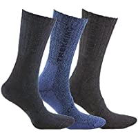 Calcetín COOLMAX de TREKKING (3 pares) para deportes de invierno o situaciones de frío y humedad. Ofrecen una perfecta temperatura y mantienen los pies frescos y secos (Negro/Azul/Marron 39-42)
