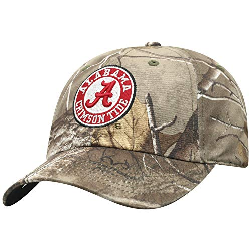 Top of the World NCAA Alabama Crimson Tide Men's Real Tree Camo Adjustable Icon Hat, Real Tree Alabama Crimson Tide Camo