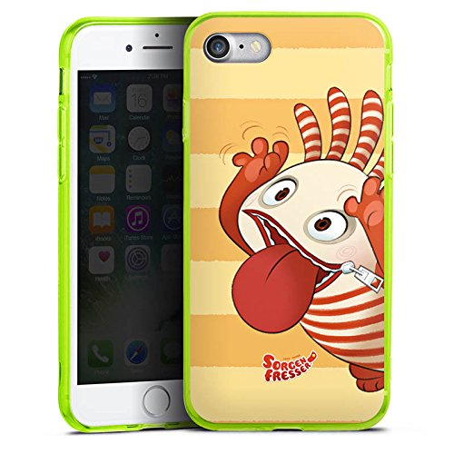 Apple iPhone 8 Silikon Hülle Case Schutzhülle Sorgenfresser Saggo Fanartikel Merchandise Silikon Colour Case neon-grün