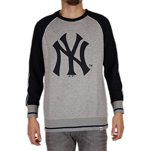 Sudadera Majestic – Mlb New York Yankees Fleece Raglan gris/azul talla: M (Medium)