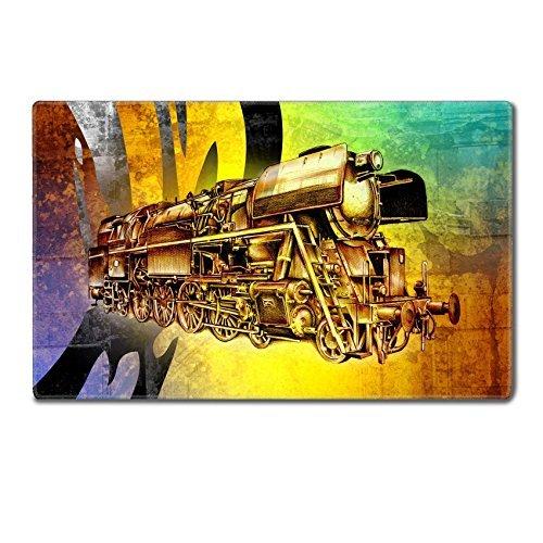 Preisvergleich Produktbild luxlady groß Gaming Mousepad Old Dampflokomotive Engine Retro Vintage 3498311161x 38,1x 0,5cm geringer Reibung Tracking Oberfläche League of Legend Dota 2WOW Custom
