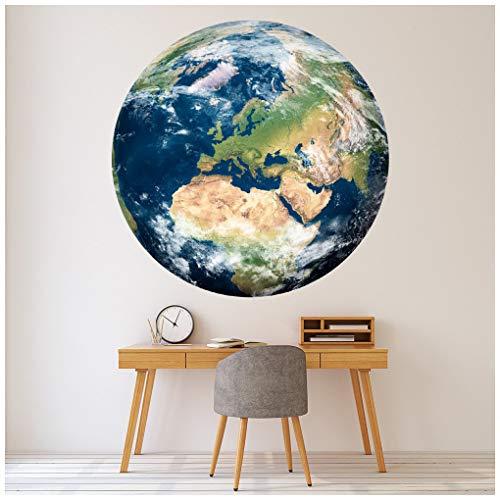 azutura Globus Erde Karte Wandtattoo Erhältlich in 8 Größen XXX-Groß Digital