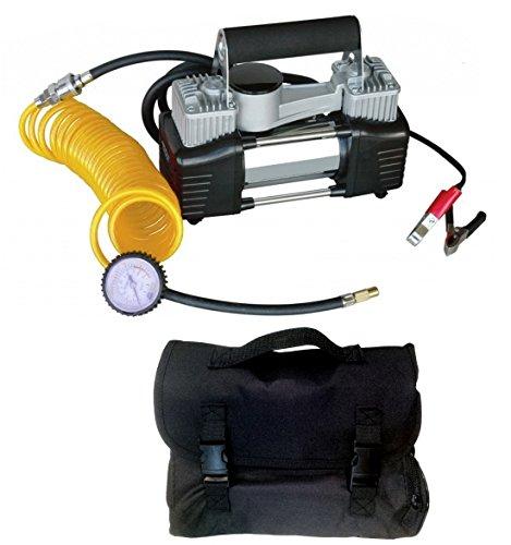 Mini-Kompressor, Doppelzylinder, Profigerät, 12V, tragbar, inkl. Tasche