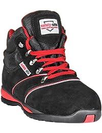 """Safety-site A2 - Saf-br07 de """"caminante de gamuza en la prueba"""" calzado de protección - negro / rojo"""
