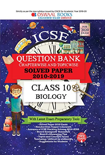 Oswaal ICSE Question Bank Class 10 Biology Chapterwise & Topicwise (For March 2020 Exam)