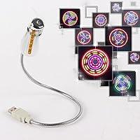 WINOMO Mini USB Ventola Con 64 LED Colorati Modelli Display Circolare (Argento)