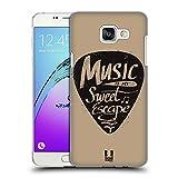 Head Case Designs Plektrum Kraft der Musik Ruckseite Hülle für Samsung Galaxy A5 (2016)