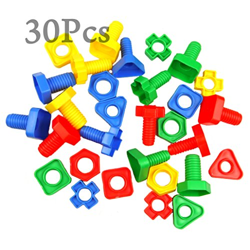 MAGIC SHOW 30pc Nuts and Bolts Jumbo Set Matching fine Toy Motor CJ533