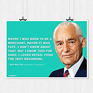 KAARTI Maybe I Was Born To Be - Sam Walton Quote Mini Sun Board Frame - 18 x 12 inches