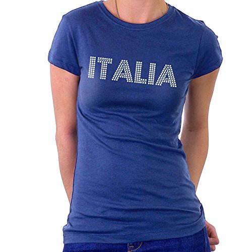 Euro 2016 Football Italy Italia Dots Blue Women\'s T-Shirt