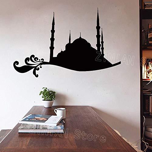 Musselin Aufkleber Zitat Schlafzimmer Eid Murabak Ramadan Kareem Maske Islam ReligionWandaufkleber WohnkulturWohnzimmer Tapete85X56 cm - Eigene Maske Kit