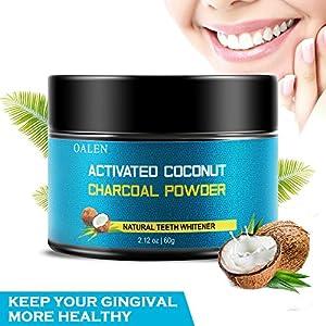 Zahnaufhellung Pulver FDA genehmigt natürliche Aktivkohle Holzzähne Aufheller Große Kapazität Bio Mint Flavor Kokosnuss Holzkohle Zähne Aufheller zum Entfernen von Flecken und erfrischenden Atem …