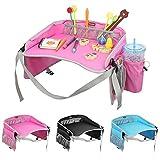 Vassoio di viaggio, EocuSun vassoi di gioco di snack di dei bambini Scheda di disegno multifunzionale portatile per i bambini Carrozzina di sicurezza dell'automobile Passeggini dei passeggini (Rosa)