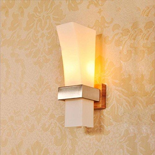 WYQLZ Lampes décoratives d'allée de couloir de couloir d'escalier en bois solide de style japonais ( Conception : Seule tête )