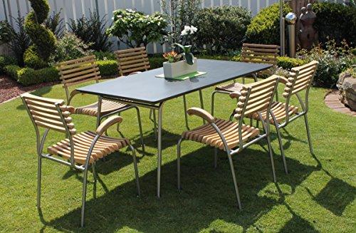 Beauty.Scouts Gartentisch 'Sydney' Tisch Esstisch Beistelltisch Gartenmöbel 90 x 72 x 150 cm Garten...