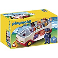 Playmobil 1.2.3 Airport Shuttle Bus Toys for Children (1.5 years old, Multicolour, Boy/Girl, 200 mm, 90 mm, 80 mm)