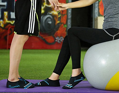 SMITHROAD Unisex Rutschfeste Fitnessschuhe Schnelltrockende Aquaschuhe Barfußschuhe Für Damen Herren Schwimmschuhe Blau