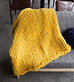 Yiyida Handarbeit Stricken Wolle Chunky Riesige Woll Gestrickte Sofa Decke Haustier Decke Handgemachte Große Decke Dekoration Geschenk Grau 60 x60cm