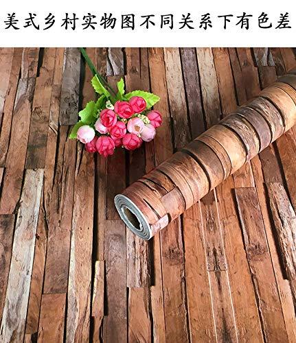 DUOCK 45 Cm x 10 Mt Holz Selbstklebende Tapete PVC Wasserdicht Englisch Brief Wandaufkleber Für Möbel Schlafzimmer Schlafsaal Raum, Amerikanischen Land, 45 Cm x 10 Mt - Land Schlafzimmer Möbel