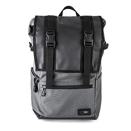 SIRUI Weekender 13 Kamerarucksack (für SLR und weitere Objektive, 13 Zoll (33cm) Laptop, Zubehör, wasserdichte Planenbeschichtung) grau