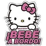 Hello Kitty KIT3010 Adhesivo Cristal Bebe A Bordo