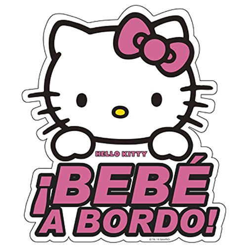 Hello Kitty KIT3010 Adhesivo Cristal Bebe A Bordo