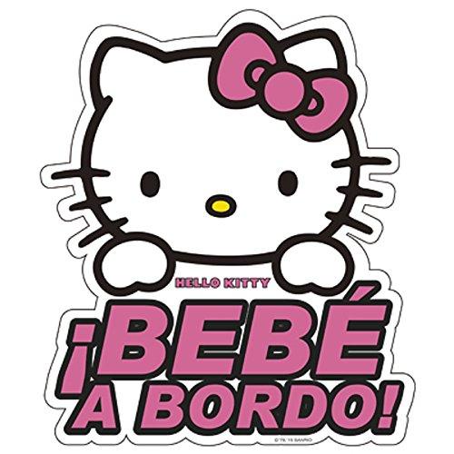 Hello Kitty KIT3010 Adhesivo para Cristal, Bebe a Bordo
