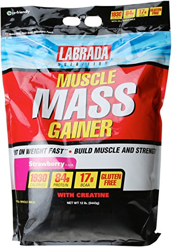 Labrada Muscle Mass Gainer - 12 lbs (Strawberry)  available at amazon for Rs.5288