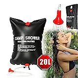 Borsa per tubo da doccia per campeggio, borsa per doccia in PVC portatile riscaldata a energia...