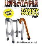 Aufblasbar Laufgestell Rahmen Wandern Rahmen , mit kostenlosen aufblasbar Gehstock Junggesellinnenabschied Junggesellenabschied Kostüm FunP - Pack of 1
