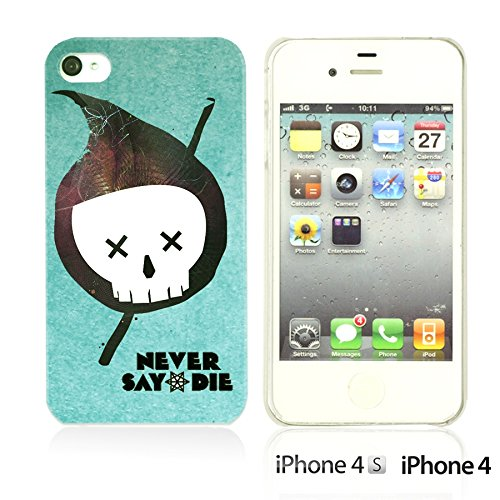OBiDi - Typography Pattern Hard Back Case / Housse pour Apple iPhone 4S / Apple iPhone 4 - Life Is Never Say Die