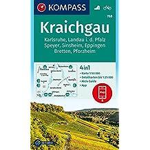 Kraichgau, Karlsruhe, Landau i. d. Pfalz, Speyer, Sinsheim, Eppingen, Bretten, Pforzheim: 4in1 Wanderkarte 1:50000 mit Aktiv Guide und Detailkarten (KOMPASS-Wanderkarten, Band 768)