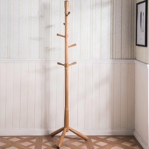 SKC Lighting-Porte-manteau Porte-manteau en bois massif Châssis suspendu simple en chêne (Couleur : A)