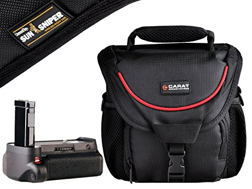 Foto Kamera Tasche TOUGH Medium Sniper Tragegurt Pro Set mit Batteriehandgriff CHG-90 für Nikon D3100 D3200 D3300 D5300