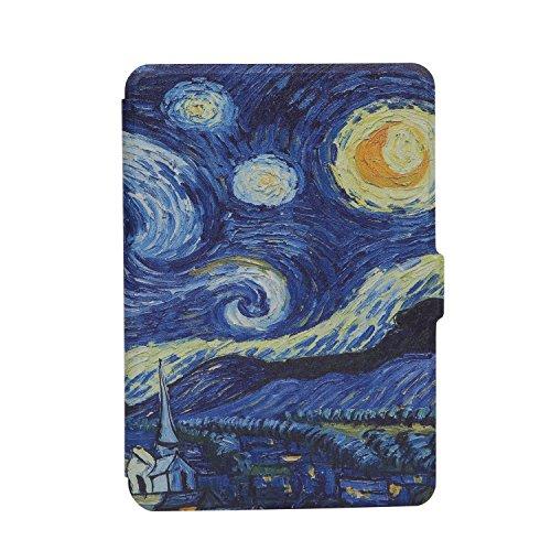 Kindle Paperwhite Custodia - Case Cover Custodia Amazon Nuovo Kindle Paperwhite 1/2/3 Adatto Tutte le versioni: 2012, 2013, 2014 ,2015 Nuovo 300 ppi), Dont Touch My Kindle (Starry Night)