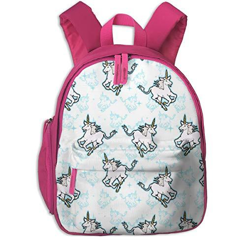 Kinderrucksack mädchen,Sparkly Unicorns_3954 - hannafate, Für Kinderschulen Oxfordstoff (pink)