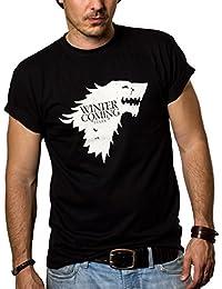 Winter is Coming Stark T-Shirt Homme Game of Thrones Noir S-XXXL