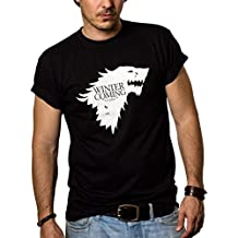 Camisetas Negras Hombre - WINTER IS COMING