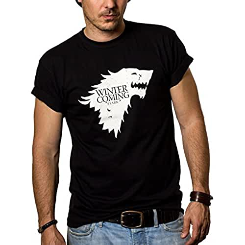 dia del orgullo friki Camisetas Negras Hombre - WINTER IS COMING