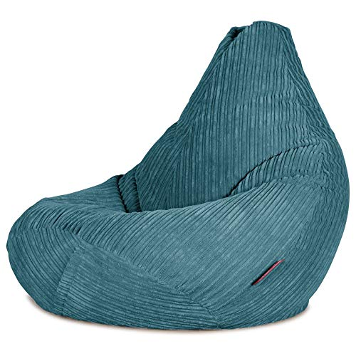 Lounge Pug®, Gaming Sitzsack Sessel, Cord Türkis