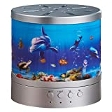 NNSL Aromatherapy Humidifier Stereo Ocean Purifier Essential Oil Diffuser Large Capacity Ultrasonic Atomizer, Silver