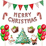 Leezepro Weihnachten Folienballon Set für Weihnachtsfeier...