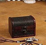 ZRO legno Scatola Portagioie Annata sbalzato Sequenza di blocco Fiori gioielli di stoccaggio Regalo Display Contenitore Organizzatore Caso