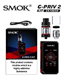NEW SMOK G-PRIV 2 KIT 230W with TFV8 X-BABY Tank 2ml TPD Compliant (Black/Red) -