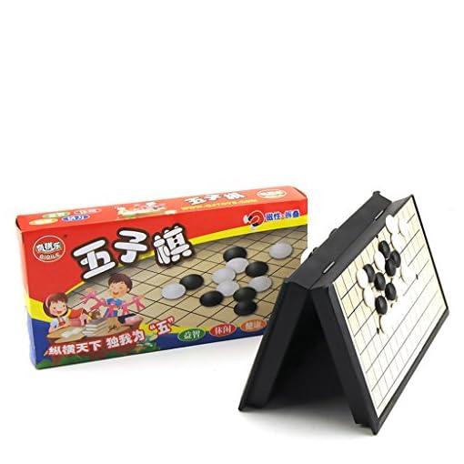 MagiDeal-Tragbar-Faltbar-Gobang-Spiel-Reiseset-Spielbrett-mit-magnetische-Spielsteinen-Brettspiel