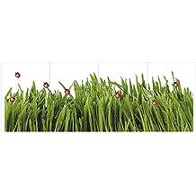 2 x Fenstersticker Gras, Wiese, Marienkäfer, Grün, Fensterbilder, Windowsticker, Fensterdeko, Fenster Tattoo, Fliesensticker, Fliesenaufkleber, Fliesentattoo, Fensterfolie, mehrmals wiederverwendbar