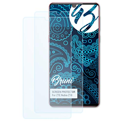 Bruni Schutzfolie kompatibel mit ZTE Nubia Z18 Folie, glasklare Bildschirmschutzfolie (2X)