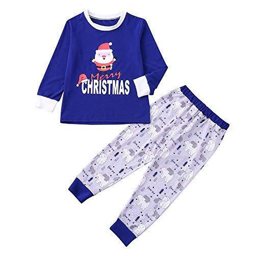 Yesmile Familien Outfit Familie Weihnachten Schlafanzüge Xmas Gestreifte Eltern und Kleinkinder Pyjama Nachtwäsche Hausanzug