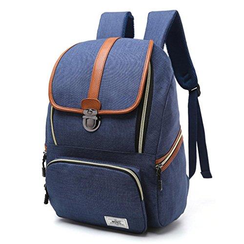 F@2016 nuova spalla dello zaino della borsa borsa da viaggio di piacere '' calcolatore zainetto , gray treasure blue