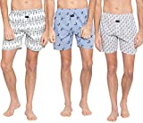 #10: Nick & Jess Mens Printed 100% Cotton Boxers Combo Pack of 3